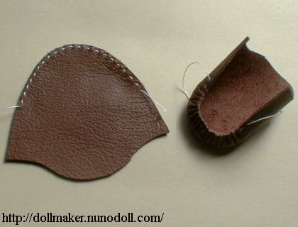Make sure the top part of the shoe and the strap in placed on the fold. Now carefully cut them out