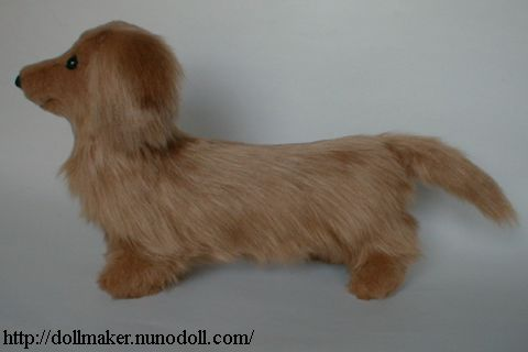 Stuffed Toy Dog Long Haired Dachshund