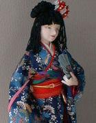 Japanese doll in kimono