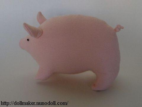 Pink felt pig
