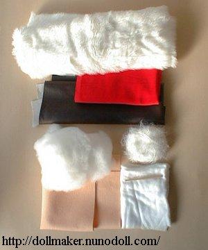 Matériaux de Santa poupée